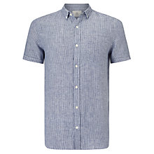 Buy John Lewis Double Stripe Short Sleeve Linen Shirt Online at johnlewis.com