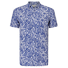 Buy John Lewis Passion Flower Short Sleeve Linen Shirt, Cobalt Blue Online at johnlewis.com