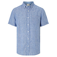 Buy John Lewis Slim Stripe Short Sleeve Linen Shirt Online at johnlewis.com
