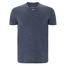 Buy John Lewis Organic Cotton Jaspe V-Neck T-Shirt Online at johnlewis.com