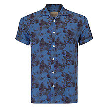 Buy JOHN LEWIS & Co. Vintage Floral Linen Bowling Shirt Online at johnlewis.com