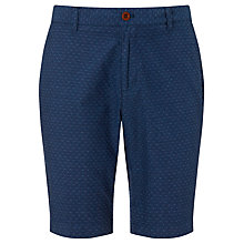 Buy JOHN LEWIS & Co. Jacquard Print Cotton Shorts, Indigo Online at johnlewis.com