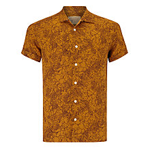 Buy JOHN LEWIS & Co. Outline Floral Linen Bowling Shirt Online at johnlewis.com