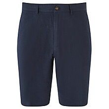 Buy John Lewis Seersucker Shorts, Navy Online at johnlewis.com