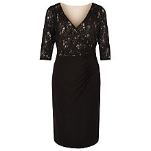 Buy Windsmoor Wrap Front Lace Dress, Black Online at johnlewis.com