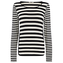 Buy Oasis Blocked Side Stripe Crew Top, Multi Online at johnlewis.com