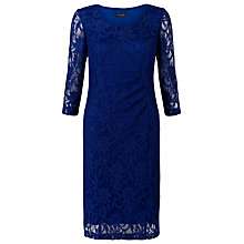 Buy Precis Petite Lace Dress, Imperial Blue Online at johnlewis.com