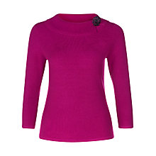 Buy Precis Petite Boucle Brooch Jumper, Pink Online at johnlewis.com