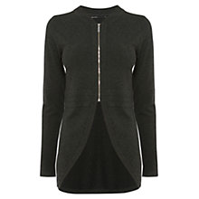 Buy Karen Millen Shaped Cardigan, Charcoal Online at johnlewis.com