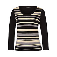 Buy Precis Petite Striped Jumper, Brown/Multi Online at johnlewis.com