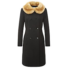 Buy Kaliko Vintage Faux Fur Coat, Mid Grey Online at johnlewis.com