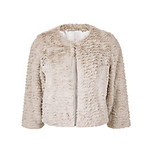 Buy Kaliko Short Faux Fur Jacket, Neutral Online at johnlewis.com