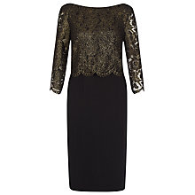 Buy Kaliko Lace Bodice Dress, Multi Black Online at johnlewis.com