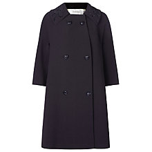 Buy Kaliko Embellished Collar Coat, Black Online at johnlewis.com