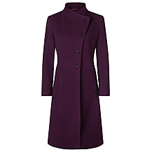 Buy Kaliko Full Skirt Funnel Neck Coat, Dark Red Online at johnlewis.com