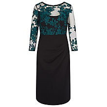Buy Kaliko Winter Floral Lace Dress, Black Online at johnlewis.com