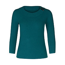 Buy Precis Petite Boucle Ribbed Jumper, Teal Online at johnlewis.com
