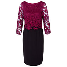 Buy Kaliko Floating Bodice Lace and Jersey Dress Online at johnlewis.com