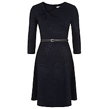 Buy Kaliko Jacquard Skater Dress, Navy Online at johnlewis.com