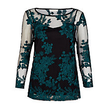 Buy Kaliko Lace Embroidered Top, Multi/Green Online at johnlewis.com