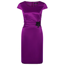 Buy Precis Petite Jewel Waist Shift Dress, Plum Online at johnlewis.com