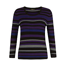 Buy Precis Petite Striped Jumper, Purple/Multi Online at johnlewis.com