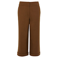 Buy Karen Millen Wide Leg Cropped Trousers, Tan Online at johnlewis.com
