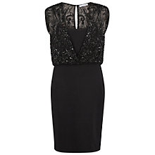 Buy Gina Bacconi Ponti Dress With Beaded Wrap Bodice Online at johnlewis.com