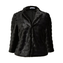 Buy Gina Bacconi Faux Fur Cropped Jacket, Black Online at johnlewis.com
