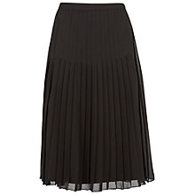 Buy Gina Bacconi Pleated Skirt, Black Online at johnlewis.com