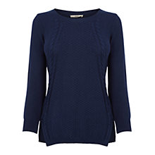 Buy Oasis The Cable Knit, Navy Online at johnlewis.com
