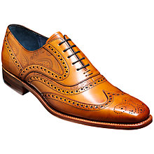 Buy Barker McClean Leather Lace-Up Brogues, Cedar Online at johnlewis.com
