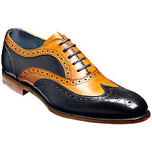 Buy Barker Jensen Oxford Leather Lace-Up Brogues, Cedar/Blue Online at johnlewis.com