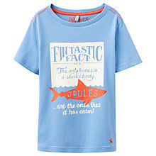 Buy Little Joule Boys' Fantastic Fact Shark T-Shirt, Blue Online at johnlewis.com
