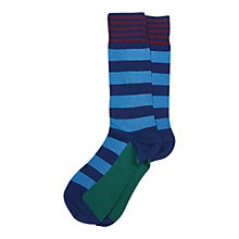 Buy Barbour Bold Stripe Socks, Blue Online at johnlewis.com