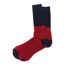 Buy Barbour Two Colour Socks, Red/Navy Online at johnlewis.com