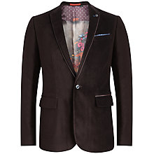 Buy Ted Baker Velveto Jacket, Purple Online at johnlewis.com