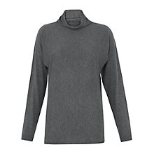 Buy Whistles Annie Sparkle Funnel Knit Jumper, Grey Online at johnlewis.com