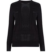 Buy Warehouse Pointelle Geometric Pattern Jumper Online at johnlewis.com