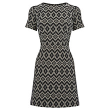 Buy Oasis Jacquard Short Sleeve Skater Dress, Multi Online at johnlewis.com