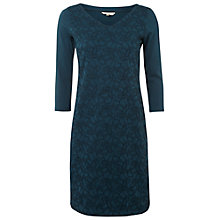 Buy White Stuff Dancehall Jersey Dress, Dark Tap Shoe Teal Online at johnlewis.com
