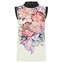 Buy Oasis Floral Placement Roll Neck Top, Multi Online at johnlewis.com