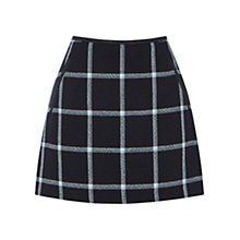 Buy Oasis Check Marley Mini Skirt, Navy Online at johnlewis.com