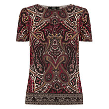 Buy Oasis Paisley Border Grosgrain Tee, Multi Online at johnlewis.com