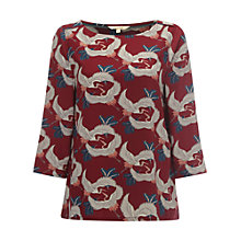 Buy White Stuff Delicate Heron Top, Rich Red Online at johnlewis.com