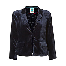 Buy White Stuff Memoirs Velvet Jacket, Pottery Blue Online at johnlewis.com
