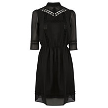 Buy Oasis The Victoriana Dress, Black Online at johnlewis.com