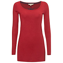 Buy White Stuff Joy Longline Jersey Tee, Chilli Red Online at johnlewis.com