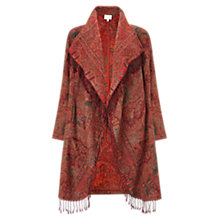 Buy East Waterfall Shawl Gudri Coat, Auburn Online at johnlewis.com