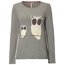 Buy White Stuff Little Owl Jumper, Modern Grey Online at johnlewis.com